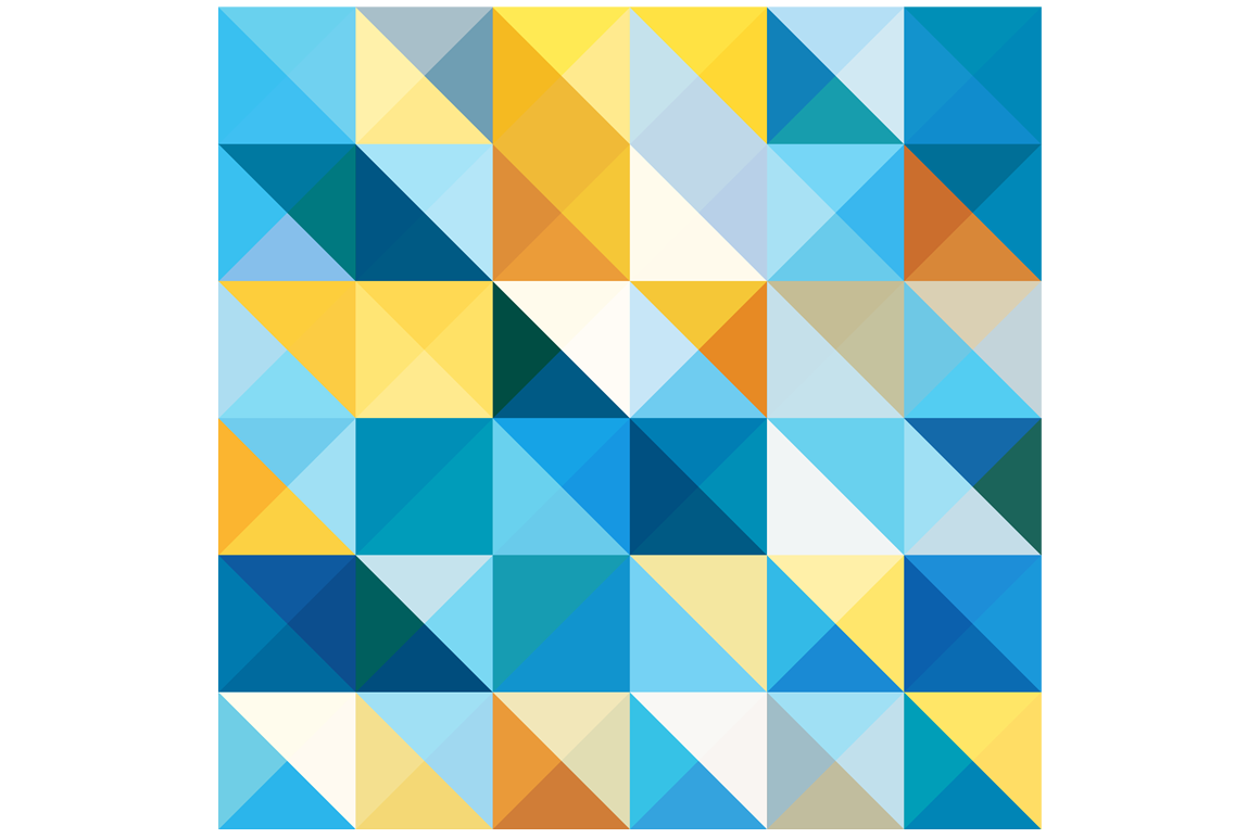 Colorful Triangle Pattern Icon
